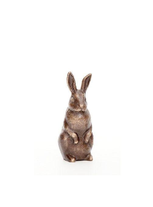Rabbit in Bronze - small figurine standing on Etsy, $32.00
