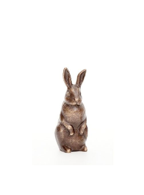 Rabbit in Bronze - small figurine standing on Etsy, $32.00