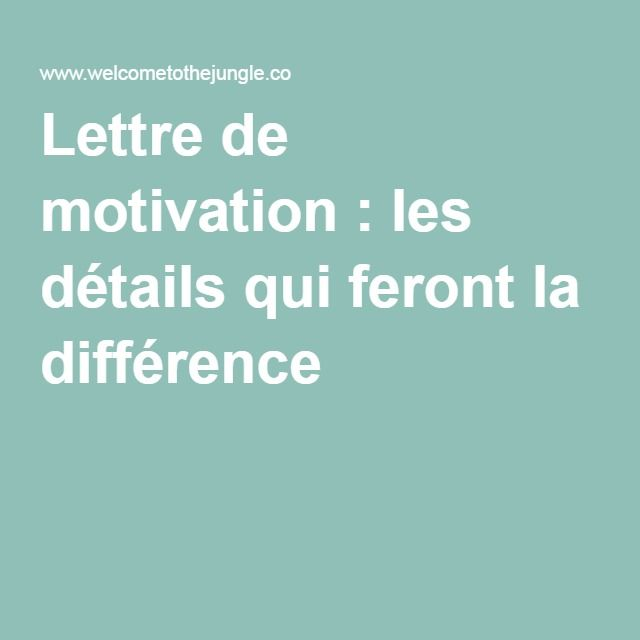 25 best ideas about Lettre De Motivation Emploi on Pinterest  Cv