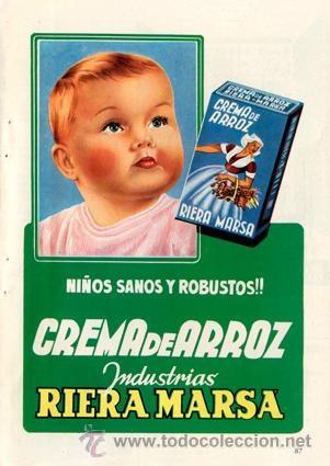 Página Publicidad Original *CREMA DE ARROZ · Riera Marsá*. Vintage --- Año 1957