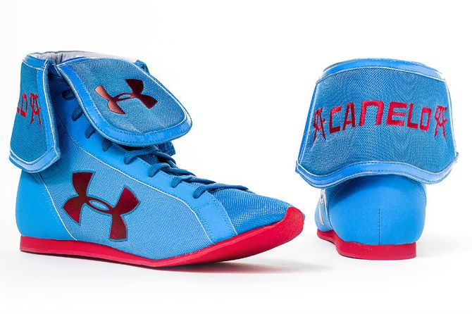 canelo alvarez under armour training boots blue 02 Saul Canelo Alvarezs Under Armour Training Boots