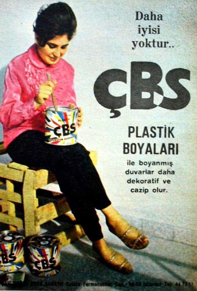 OĞUZ TOPOĞLU : çbs plastik boya 1963 nostaljik eski reklamlar