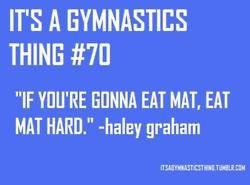 It's a gymnastics thing