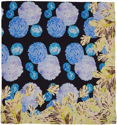 Botanical, floral print scarf from Liberty