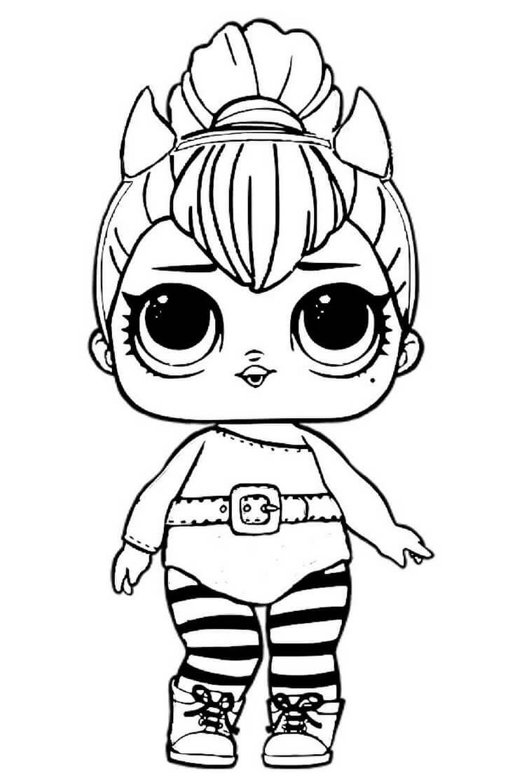 Spice Lol Doll Coloring Pages Surprise Printable Dolls Sheets