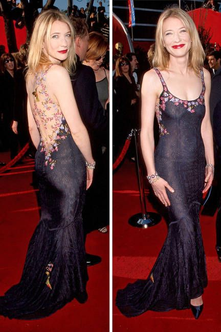 Cate Blanchett - THE 15 BEST RED CARPET DRESSES, EVER In John Galliano at the Oscars, 1999