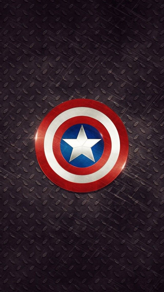 Captain America Logo iPhone 5 Wallpaper