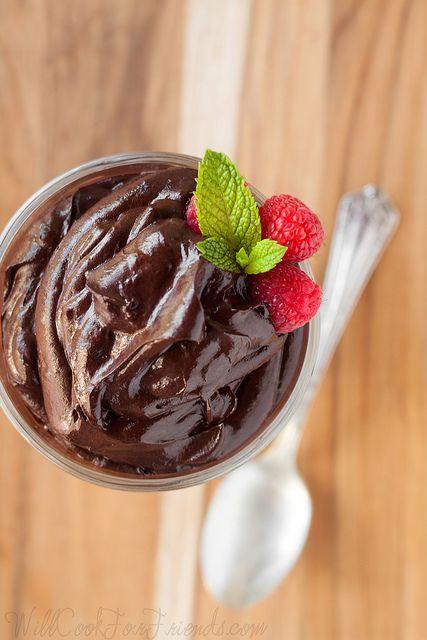 Avocado Chocolate Mousse (Raw, Vegan, Gluten-Free) by WillCookForFriends
