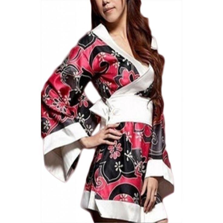 Kimono Imprimé Fleurs Stylisées Powaqa