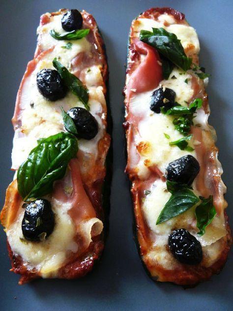 Zucchini pizzas (will need google translate)