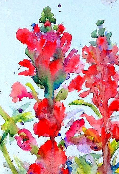 """Snapdragons"" watercolor"