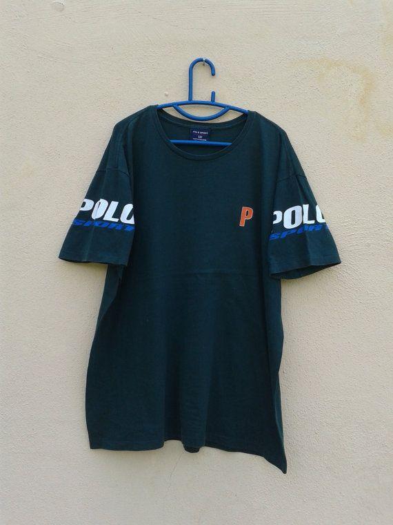 Vintage Polo Sport  Ralph Lauren Tshirt 1990s. by sixstringent, $29.90
