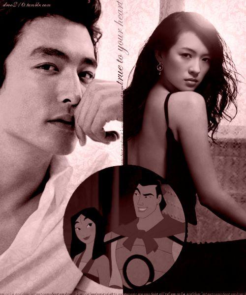 Disney DreamCast--Daniel Henney as Shang; Zhang Ziyi as Mulan (Mulan)