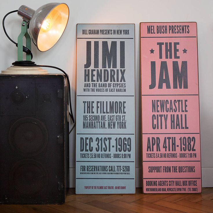 Are you interested in our personalised music concert sign? With our vintage personalised concert sign you need look no further.