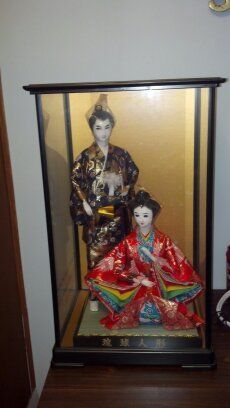 Japanese Geisha Dolls in BeckyWes' Garage Sale in Luck , WI for $50.00. Set of 2 Japanese Geisha Dolls in case.  Dolls have never been taken out of case and are in excellent condition!