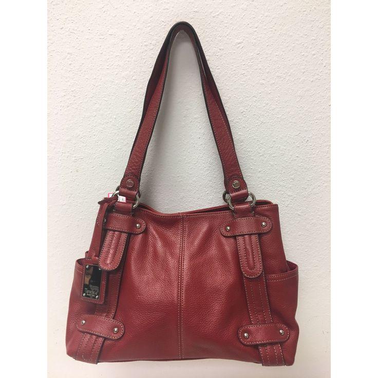 Tignanello Red Leather Handbag Medium