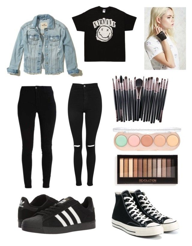 """""""My wish list"""" by olahtory on Polyvore featuring adidas, Topshop, Converse, Hollister Co. and Forever 21"""