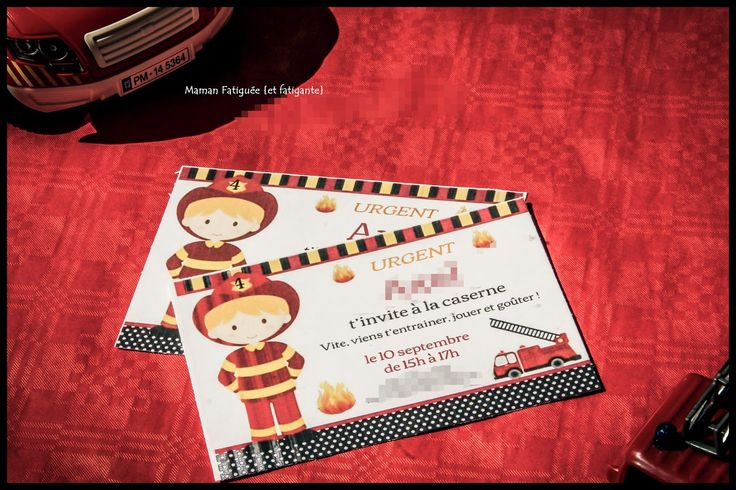 invitation anniversaire pompier