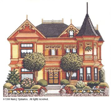 Gingerbread Mansion - Finished  designed by Nancy Spruance  IT'S FOR SALE!  PLEASE SAVE HER!