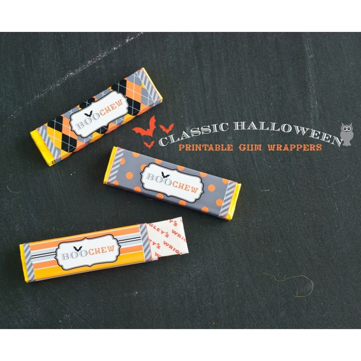 SO CUTE! Printable Gum Pack Wrappers - Instant Download
