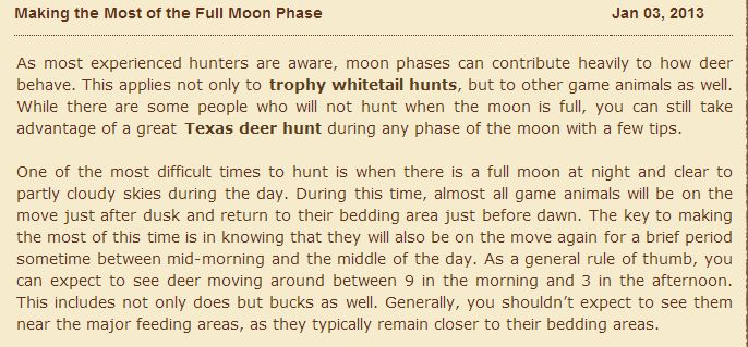 Making the Most of the Full Moon Phase | Deer Hunting Blog