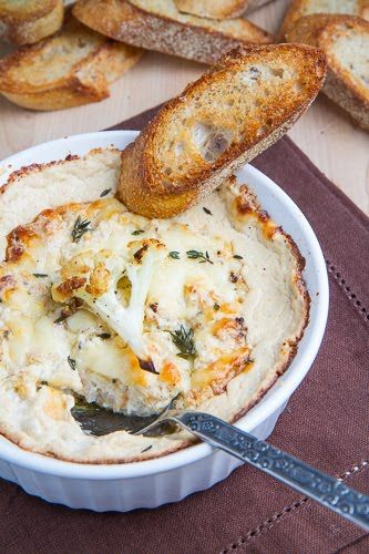 Check out this amazing Roasted Cauliflower and Aged White Cheddar Dip! from @closetcooking