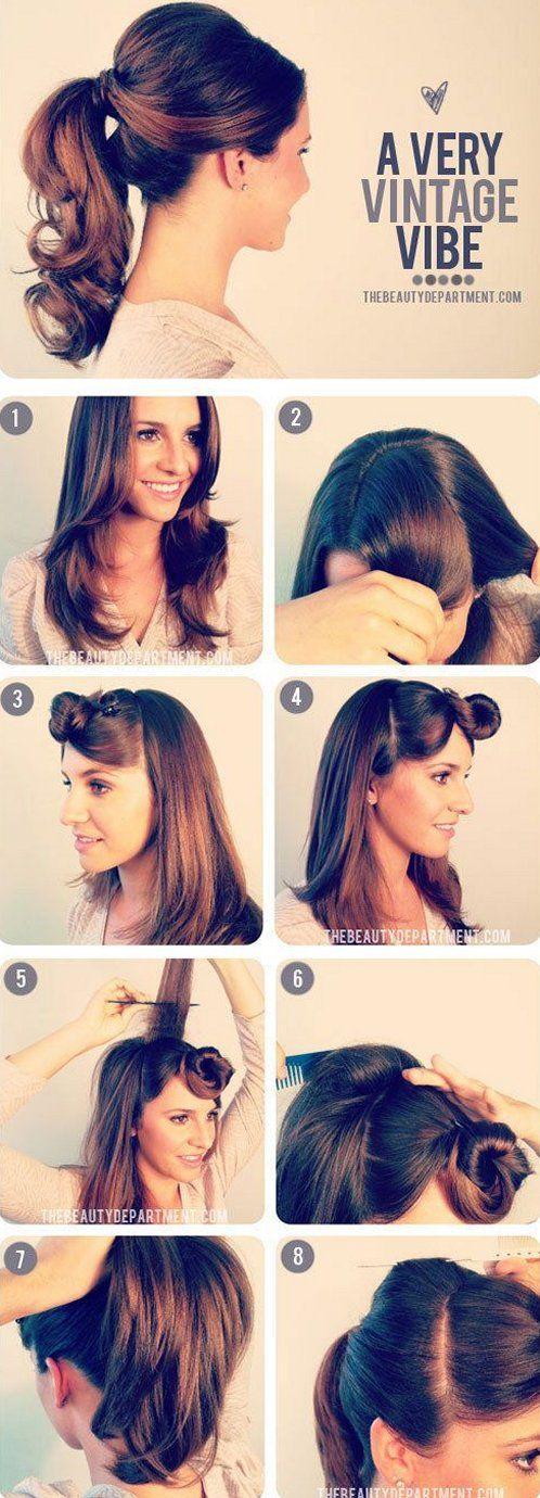 Peinado con coleta paso a paso
