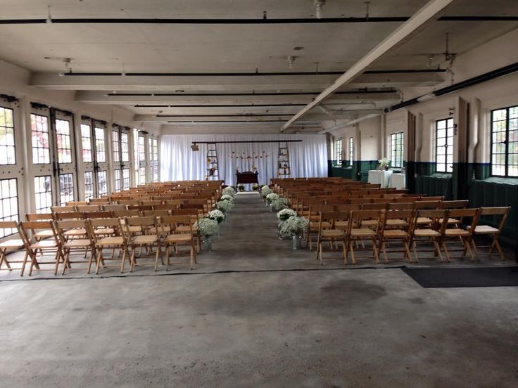 A Nice Ceremony Set Up In The Lodge Garage This Weekend 10 2017