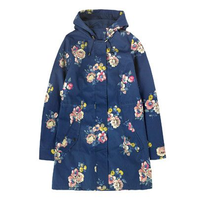 New In Fashion    Scattered Windflower Printed Hooded Parka    CathKidston