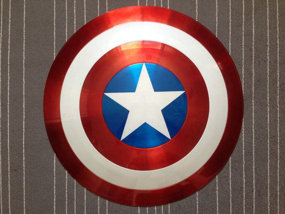 Captain America Shield Metal 1:1 FULL SCALE by MachinaProps