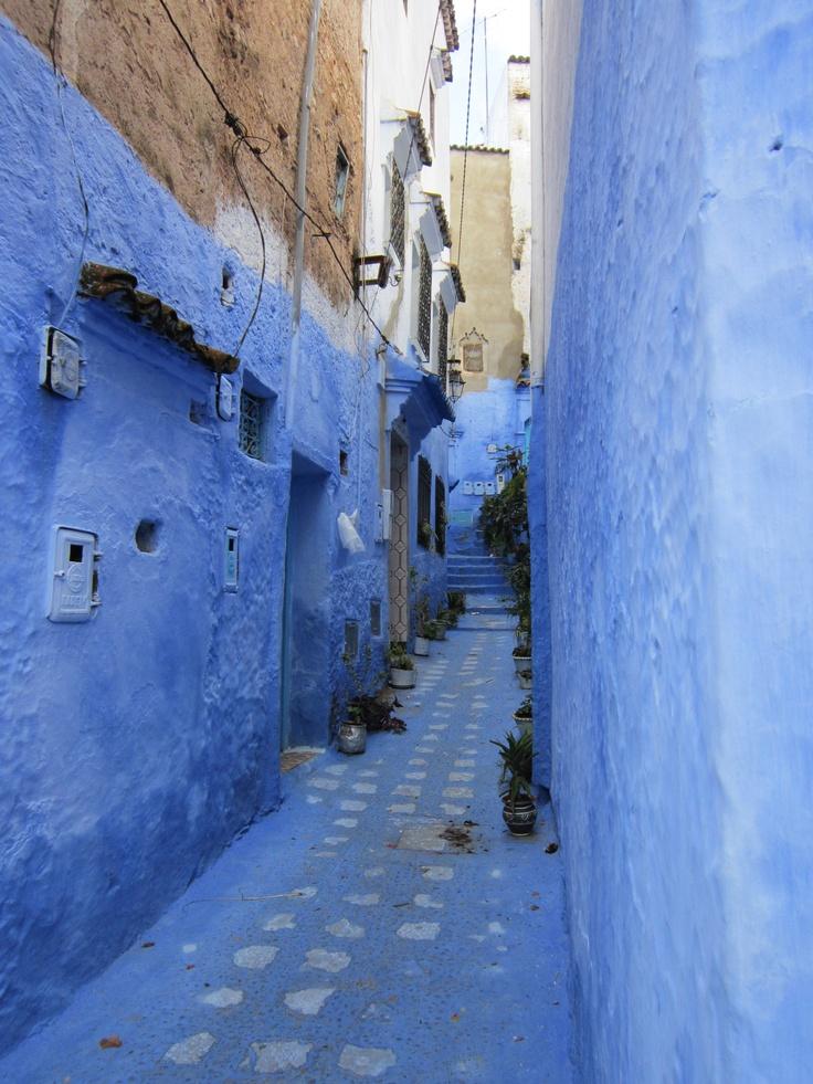 Blue village in Morocco called Chef Chauen