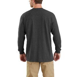 c9031f24a Carhartt Workwear Block Logo Graphic Long-Sleeve T-Shirt - back grey and  yellow