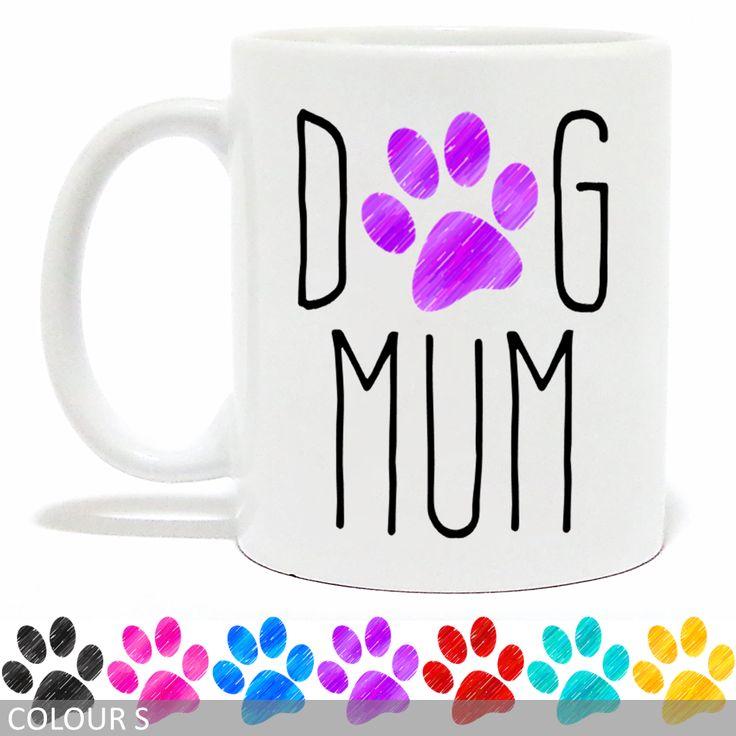 Dog Mum Mug - Pencil Paw Print