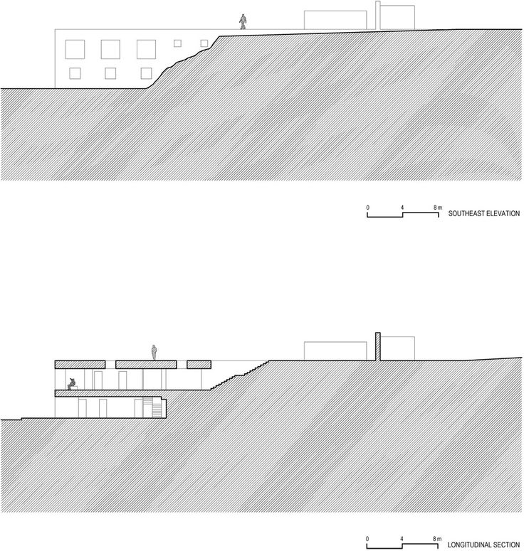 Grafismo del terreno correcto, alzado pocos datos y mal grafismo - Casa del Infinito