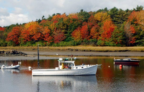 Boat in Autumn - Kennebunkport, Maine (credit-Bob Dennis)
