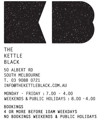 The Kettle Black – South Melbourne (Eat)