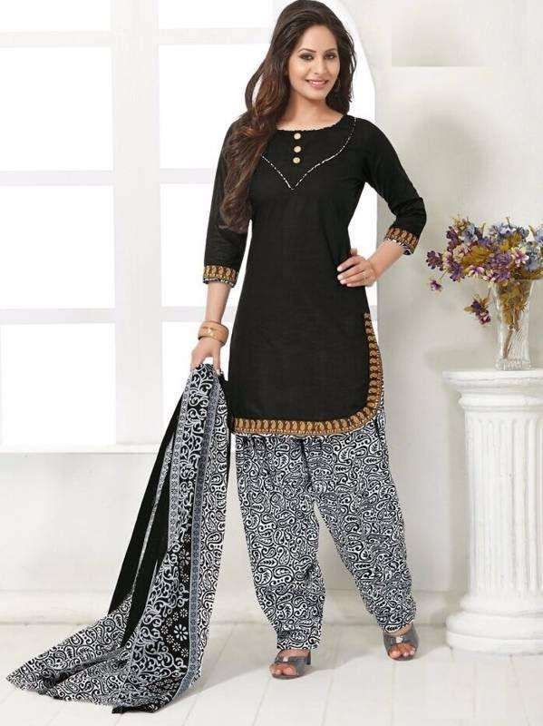 b44d20c4af Elegant cotton designer patiyala unstitched dress material salwar suit d.no  b210   r   Dresses, Salwar suits, Fashion