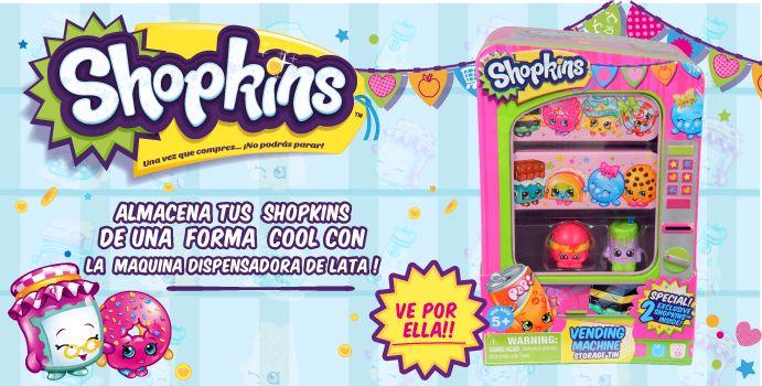 Almacema tus Shopkins de una forma cool con la Máquina Dispensadora de lata!