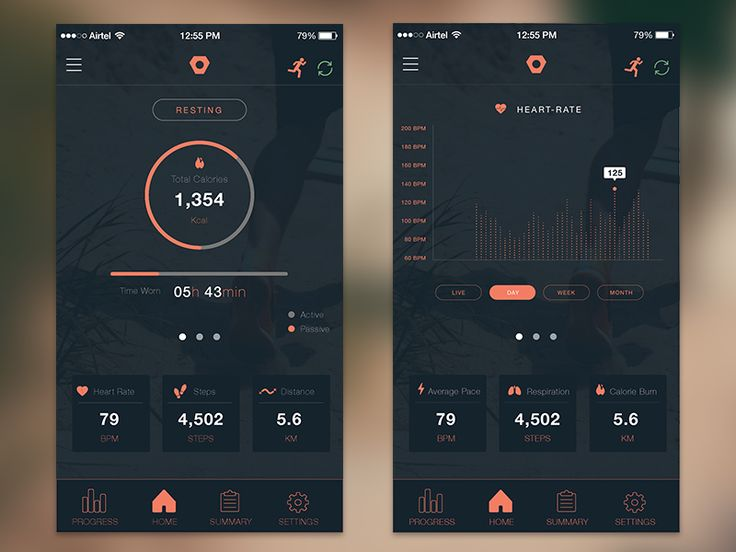 Snippet of an upcoming app design for Flip - A fitness device  http://wearflip.in/