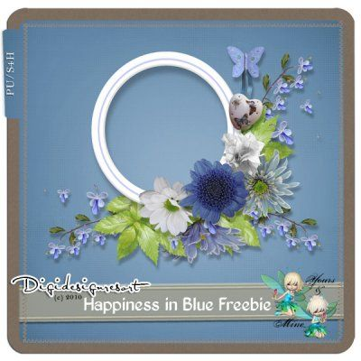 Happiness in Blue FREEBIE by Yours&Mine March-22-14