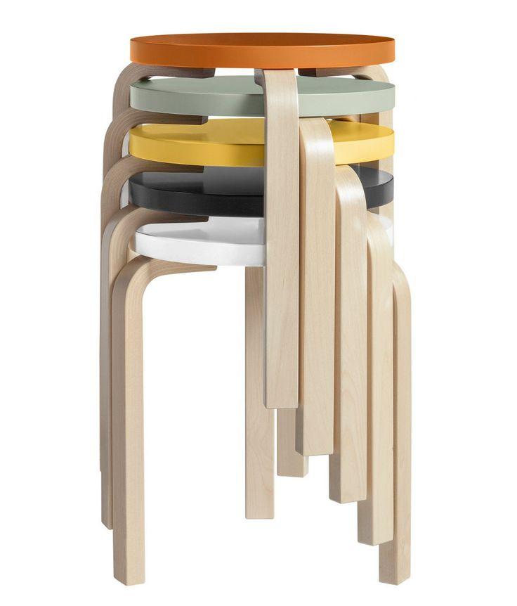 60   Stackable stool by @artekglobal  #design Alvar Aalto (1933)
