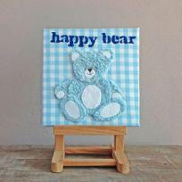 Schattig babyschilderijtje Happy Bear