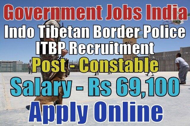 Indo Tibetan Border Police ITBP Recruitment 2018