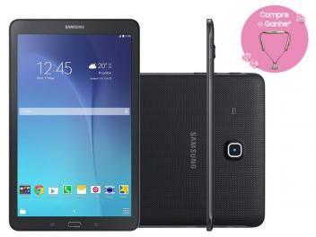 """Tablet Samsung Galaxy Tab E 8GB 9,6"""" Wi-Fi - Android 4.4 Proc. Quad Core Câm. 5MP + Frontal  R$ 805,90 em até 10x de R$ 80,59 sem juros no cartão de crédito"""