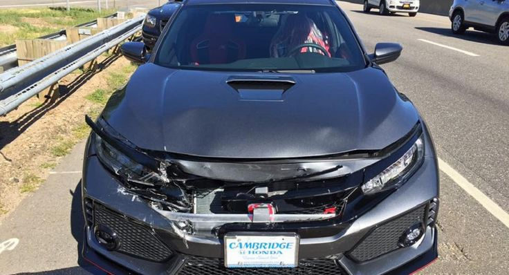 Honda Civic Type R Rear-Ended On The Way Home From The Dealership