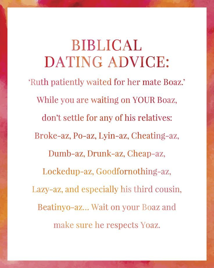 biblical advice for dating