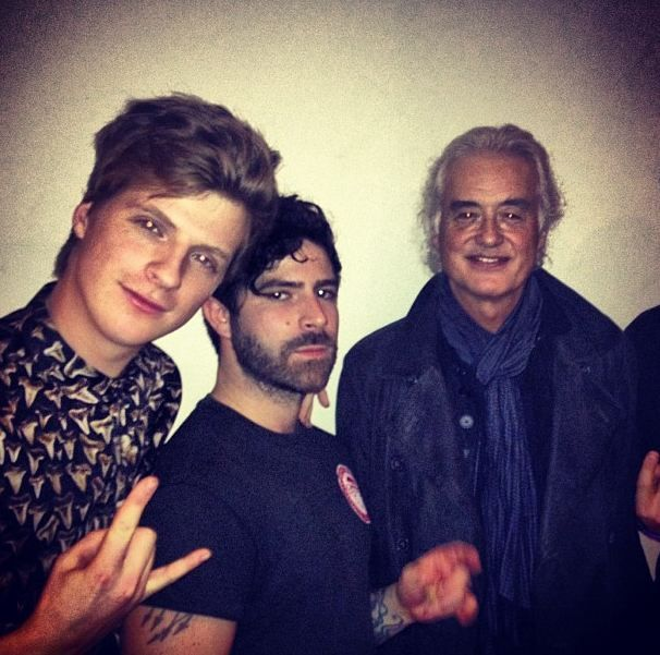 Jack and Yannis with JIMMY PAGE... :D