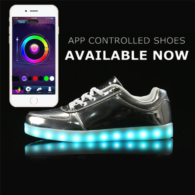 Aliexpress.com : Buy APP Control Led Light Shoes men Casual Breathable Luminous Tenis Con Luz Schoenen Met Licht Glowing Zapatillas Luces Usb Shoes from Reliable led light shoes suppliers on HoverKicks Store