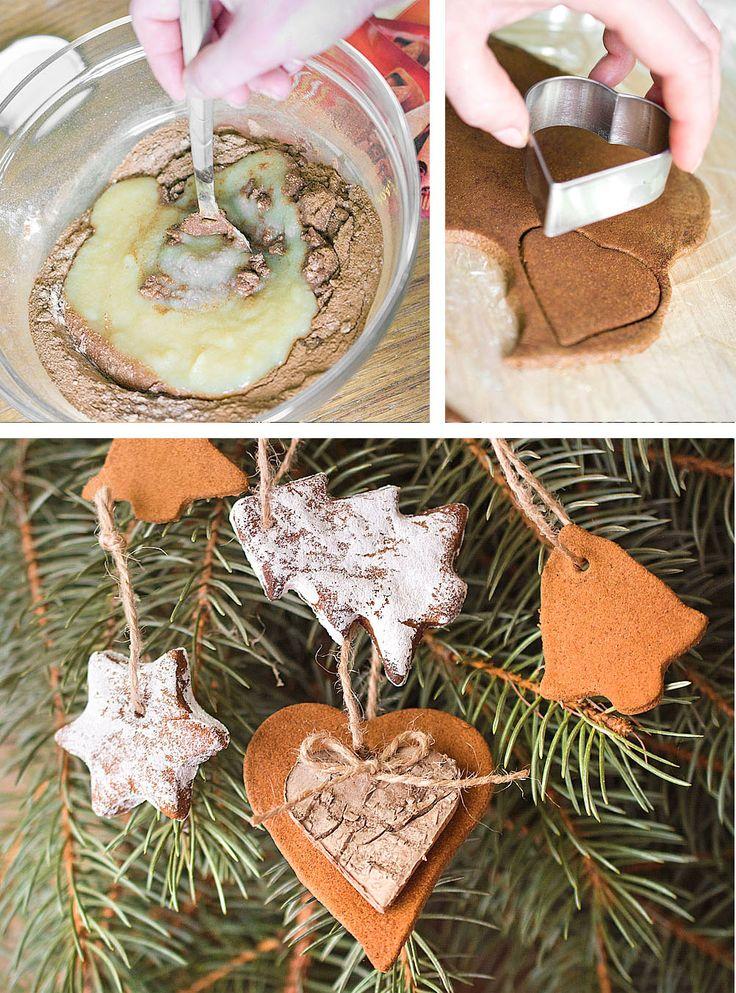 DIY Cinnamon Christmas ornaments, fragrant decorations  http://www.sashe.sk/Pipistrela/journal/ako-vyrobit-vonave-vianocne-ozdoby