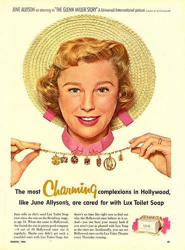 June Allyson for Lux Soap also promotion for her new movie THE GLENN MILLLER STORY
